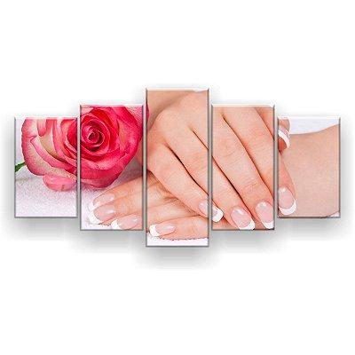 Quadro Decorativo Francesinhas Rosa 129x61 5pc Sala