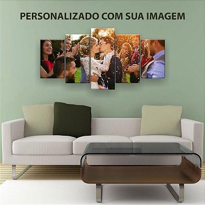 Quadro Decorativo Personalizado Foto 129x61 5pc Sala