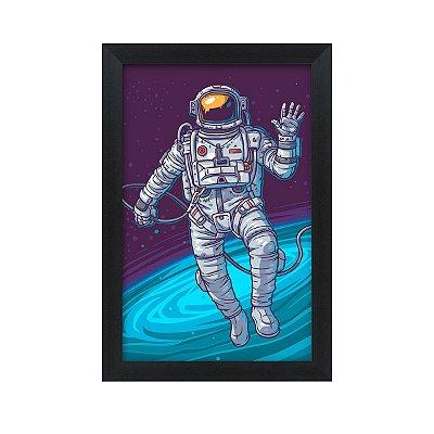 Quadro Decorativo Astronauta 33x22 Sala Quarto