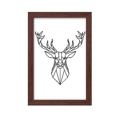 Quadro Decorativo Alce Desenho 33x22 Sala Quarto