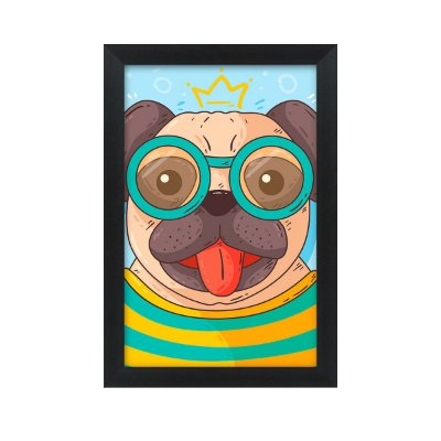 Quadro Decorativo Dog Trance 33x22 Sala Quarto