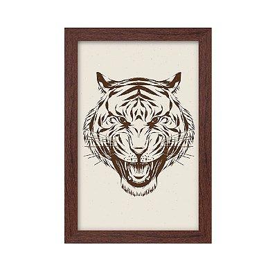 Quadro Decorativo Tigre 33x22 Sala Quarto