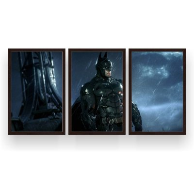 Quadro Decorativo Batman 3P 124x60 Sala Quarto