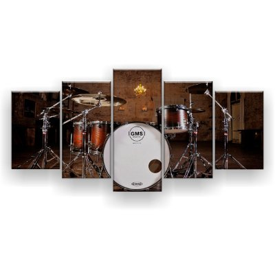 Quadro Decorativo Bateria 129x61 5pc Sala
