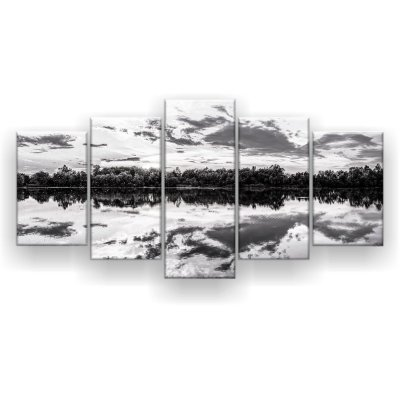 Quadro Decorativo Panorama Sunset Preto E Branco 129x61 5pc Sala