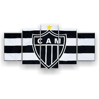 Quadro Decorativo Atlético Mineiro Futebol Clube 129x61 5pc