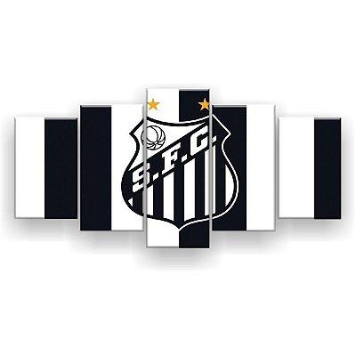 Quadro Decorativo Santos Futebol Clube 129x61 5pc
