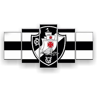 Quadro Decorativo Vasco Futebol Clube 129x61 5pc