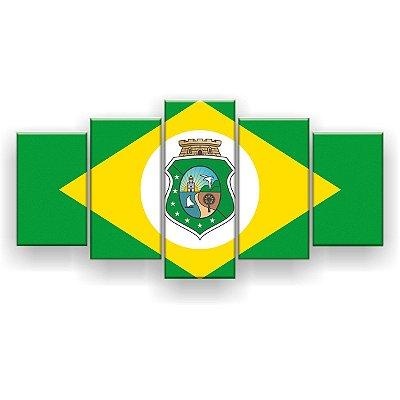 Quadro Decorativo Bandeira Do Ceará 129x61 5pc Sala