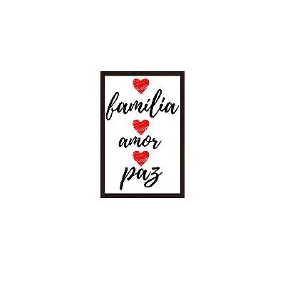 Quadro Com Moldura Família Amor E Paz 40x60