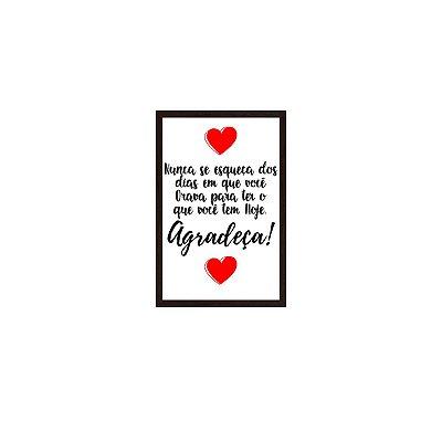Quadro Com Moldura Agradeça Frase 40x60
