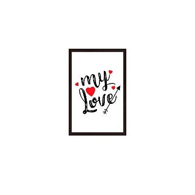 Quadro Com Moldura My Love Corações 40x60