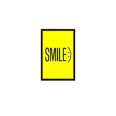 Quadro Com Moldura Smile Amarelo 40x60