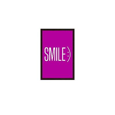 Quadro Com Moldura Smile Roxo 40x60