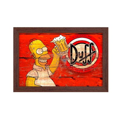 Quadro Decorativo Homer Simpson 33x22 Sala Quarto