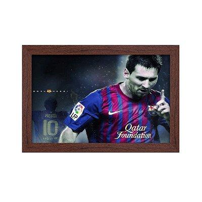 Quadro Decorativo Lionel Messi 33x22 Sala Quarto