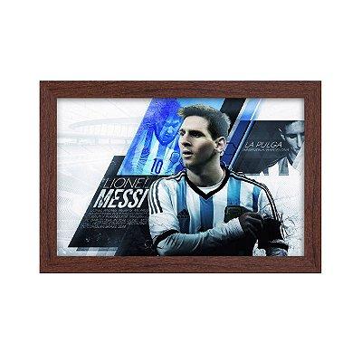 Quadro Decorativo Messi Argentina 33x22 Sala Quarto