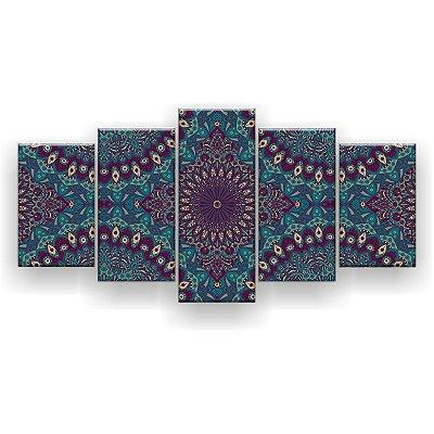 Quadro Decorativo Mandala Vintage 129x61 5pc Sala
