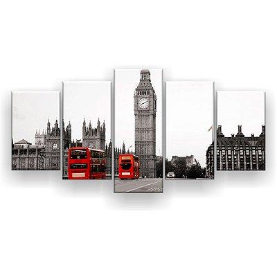 Quadro Decorativo Big Ben 129x61 5pc Sala