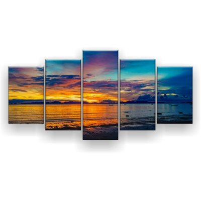 Quadro Decorativo Tailândia Sunset 129x61 5pc Sala