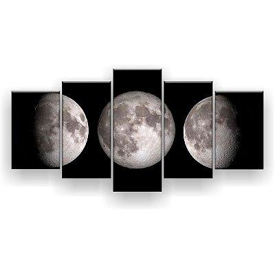 Quadro Decorativo Três Luas 129x61 5pc Sala