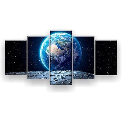 Quadro Decorativo Vista Para A Terra 129x61 5pc Sala