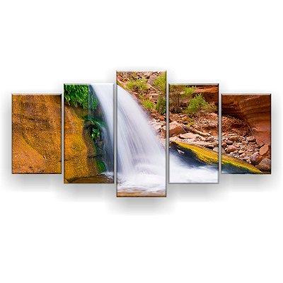 Quadro Decorativo Cachoeira No Deserto 129x61 5pc Sala