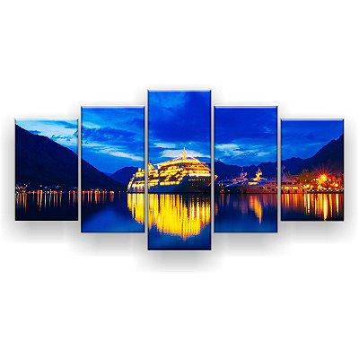 Quadro Decorativo Cruzeiro Iluminado 129x61 5pc Sala