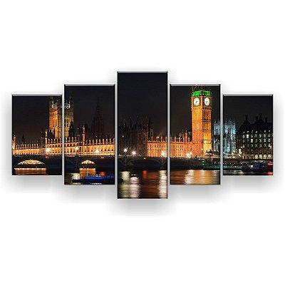 Quadro Decorativo Horizonte De Londres 129x61 5pc Sala