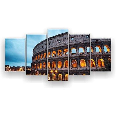 Quadro Decorativo Coliseu De Roma 129x61 5pc Sala