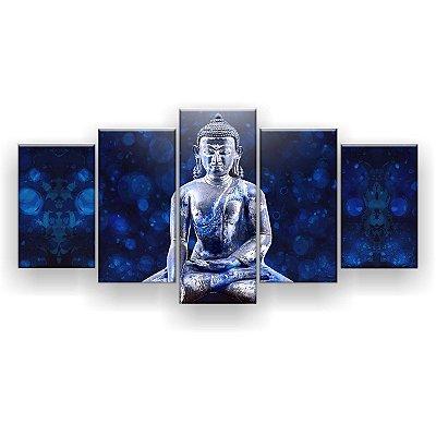 Quadro Decorativo Buda Azul 129x61 5pc Sala