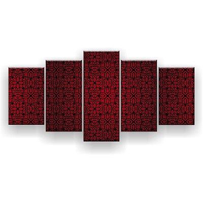Quadro Decorativo Formas Red 129x61 5pc Sala