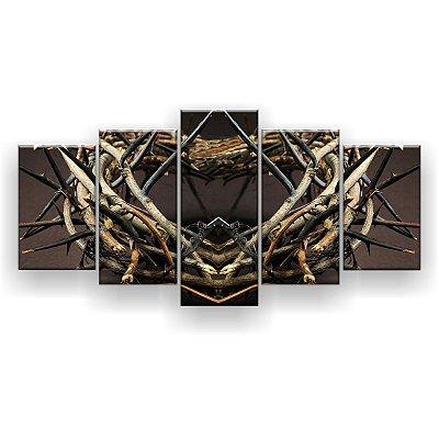 Quadro Decorativo Coroa 129x61 5pc Sala