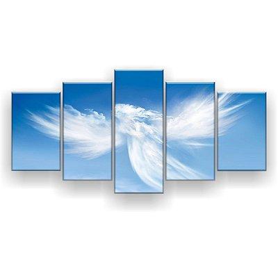 Quadro Decorativo Anjo Nuvem 129x61 5pc Sala