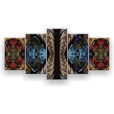 Quadro Decorativo Mandala Abstract 129x61 5pc Sala