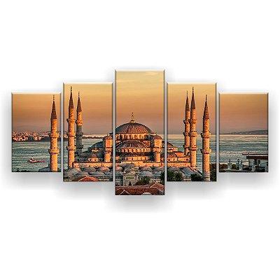 Quadro Decorativo Taj 129x61 5pc Sala