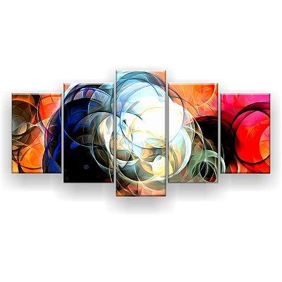 Quadro Decorativo Círculos 129x61 5pc Sala