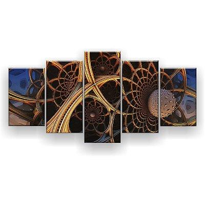 Quadro Decorativo Mandala Flor 129x61 5pc Sala