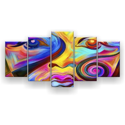 Quadro Decorativo Pintura Rosto 129x61 5pc Sala