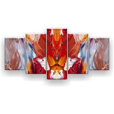 Quadro Decorativo Pintura Laranja 129x61 5pc Sala
