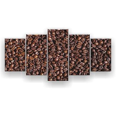 Quadro Decorativo Bagas De Café 129x61 5pc Sala