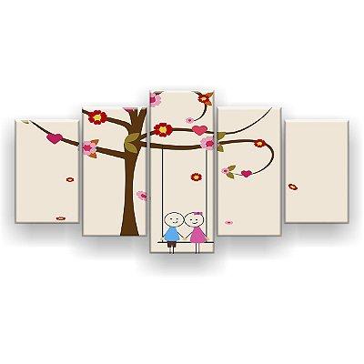 Quadro Decorativo Valentines 129x61 5pc Sala