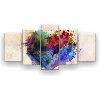 Quadro Decorativo Heart Explosion 129x61 5pc Sala