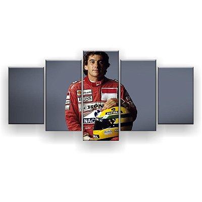 Quadro Decorativo Ayrton Senna 129x61 5pc Sala