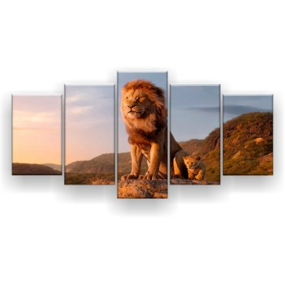 Quadro Decorativo Mufasa E Simba 129x61 5pc Sala