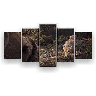 Quadro Decorativo Simba E Nala 129x61 5pc Sala