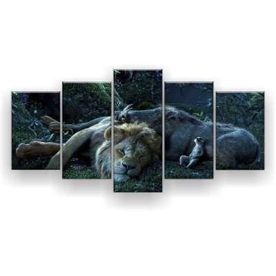 Quadro Decorativo Timão Pumba E Simba 129x61 5pc Sala