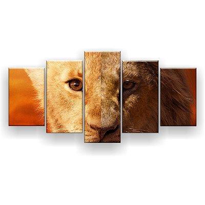 Quadro Decorativo Simba Duas Face 129x61 5pc Sala