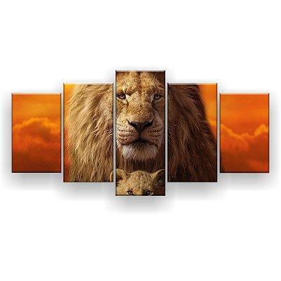 Quadro Decorativo Mufasa Simba 129x61 5pc Sala