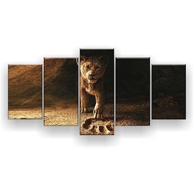 Quadro Decorativo Simba Pegada 129x61 5pc Sala